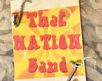 That NATION Band Saxophone Earrings