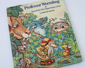Professor Wormbog in Search for the Zipperump-a-Zoo Mercer Mayer First Edition 1976, Collectible Children's Book, Vintage Large Golden Book