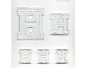 """Collegiate Letter """"H"""" Chocolate Candy Mold"""