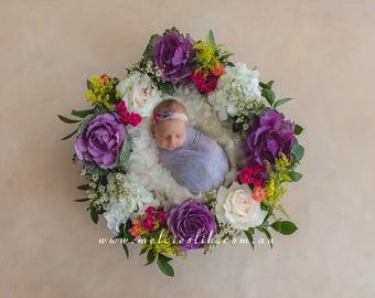 Newborn Photography Digital Backdrop Floral Background Download