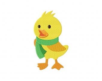 duck duckling scarf embroidery design
