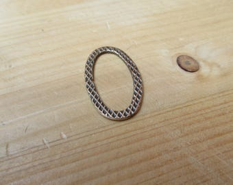 Bronze oval jump ring 30 x 17 mm