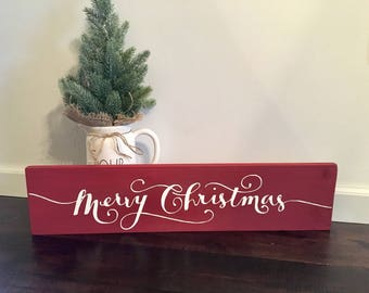 Merry Christmas Sign / Holiday Signs / Christmas Decor / Holiday Decor / Rustic Christmas / Christmas Sign