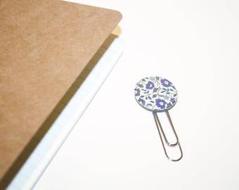 25mm Liberty Fairford blue bookmark