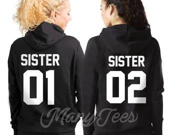 Sisters hoodies sisters sweatshirs sister sisters sweater best friends hoodies bff hoodies sister gift big sister little sister outfits