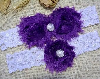 Dark Purple Garter, Wedding Garter Purple, Lace Wedding Garter, Lace Garter Set, Bridal Garter, Wedding Garter Set, Gift, Bridal Lace Garter