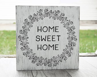 Home Sweet Home Sign - Rustic Sign - Home Decor
