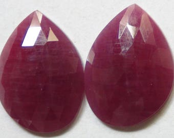 NATURAL RED RUBY Rose cut fancy shape 20 cst in loose gemstone