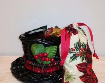 Holly Candy Bag with Drawstring (4x5)