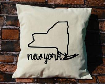 New York pillow, pillow gift, New York gift, decorative pillows, pillow cover, New York, throw pillows, NY pillow, envelope pillow cover