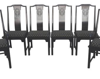 "Century Furniture Dining Chairs ""Chin Hua"" Asian Chinoiserie Style"
