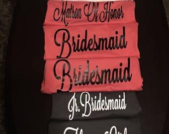 Wedding party shirts! (6) shirts!!