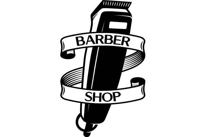 Barber Logo #3 Salon Shop Haircut Hair Cut Groom Grooming ...