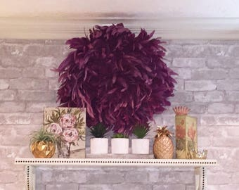 Bohemian Luxe Hand Dyed / Hand Crafted JuJu Hat Bohemian Feather Decor