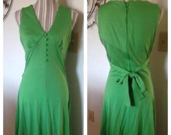 Anniversary Sale Cool Vintage Green Maxi Dress