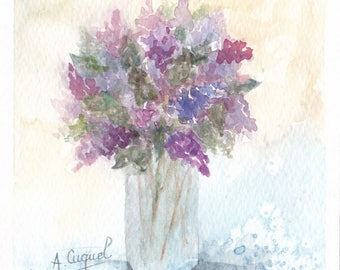 bouquet 23 - original watercolor painting