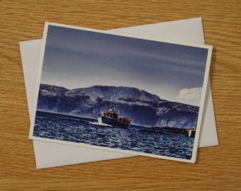 Scottish Landscapes Greetings Card - A6 - The Channel Hound, Easdale - Blank Card - Any occasion