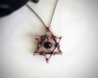 Star Of David Necklace - Star Of David - Copper Star Of David - Silver Star Of David - Gift