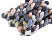 Mini Skeins, Hand Dyed Yarn, Sock Weight, Superwash Merino Wool Yarn, Knitting Yarn, Sock Yarn, Multi-colored, rainbow, speckled - Dorothy