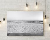 Black & White Photography, Clean Aesthetic, Coastal Beach Ocean Photo, Minimalist Artwork, Office Decor, Printable Art, Digital Download
