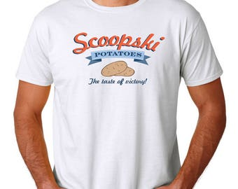 Scoopski Potatoes T-Shirt, White S-3XL, Funny Impractical Jokers College Humor