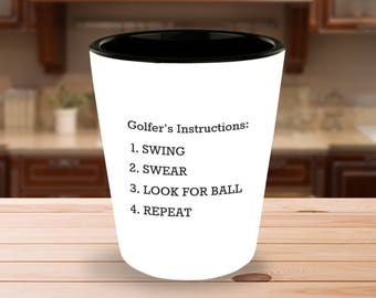 Golf Gifts for Men | Fathers Day Golf | Golf Gifts | Funny Shot Glasses | Dad Gifts | Funny Shot Glass | Gifts for him | Dad Golf