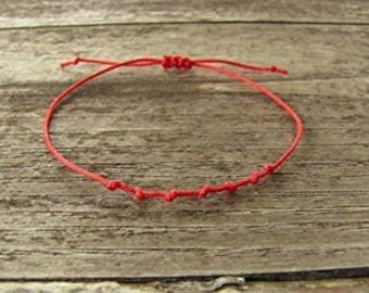 Kabbalah bracelet / kabbalah bracelet / red thread 7 knots - Creation of sparkle