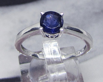 Ring Sterling Silver 925 adorned with Iolite size 58