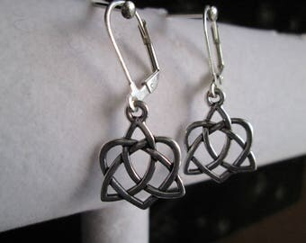 Celtic Trinidad Irish Knot Silver Earrings #1