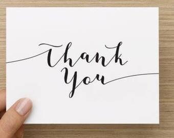 5 x thank you cards // Thank you card set // Wedding thank you cards // Thank you card pack // Card to say thanks //