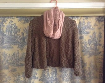 Soft Brown Cotton Sweater