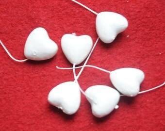 Christmas: set of six plastic hearts