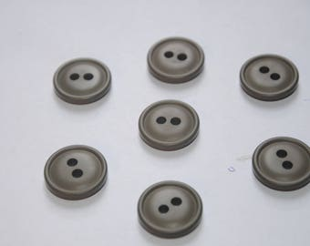 seven buttons 22 mm color grey
