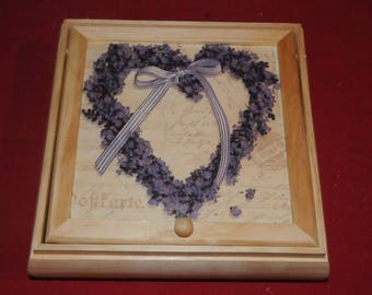 Three compartments and mirror jewelry box
