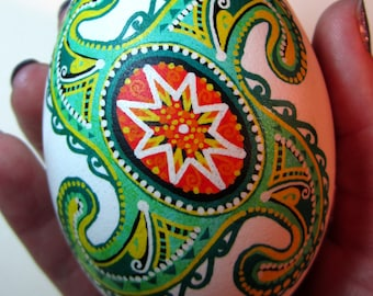 St. Patrick's day Gift.Traditional Ukrainian Easter egg.Hand painted Easter eggs.Pysanka.Ukrainian real Easter eggs.Batic eggs.Goose pysanka