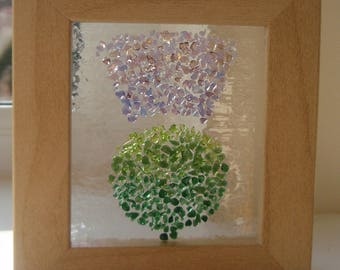 Fused Glass 3-D effect Scottish Thistle