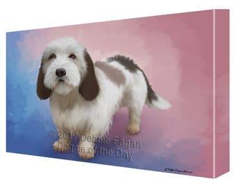 Petit Basset Griffon Vendeen Dog Canvas Wall Art