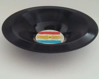 "The Police Recycled Smooth Vinyl Record Bowl ""Synchronicity"""