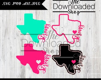 Texas Strong silhouette studio .dxf .SVG .eps .JPEG .jpg file for Silhouette Studio Cricut Studio