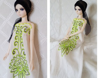 BJD, MSD, Doll outfit, Doll clothes, Doll dress.bjd summer dress , white summer dress.
