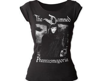 DISCONTINUED! The Damned Phantasmagoria Women's Fitted Cut Tee (DAMNCT01) Black