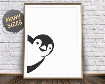 Penguin Print Penguin Nursery Animal Print Penguin Decorations Penguin Poster Penguin Art Nursery Wall Art Nursery Wall Decor Nursery Poster