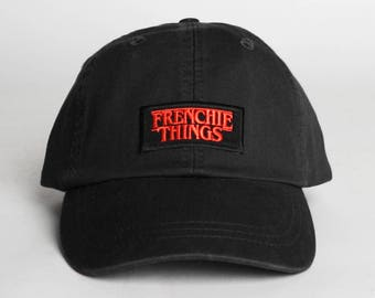 Frenchie Things Embroidered Dad Hat - French Bulldog Pug Boston Terrier Bulldog Puppy Dogs - Various Colors Low Profile Hat Baseball Cap