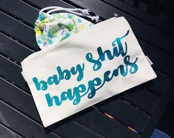 Baby Diaper Wet Bag • Waterproof Clutch • Cloth Diapering •
