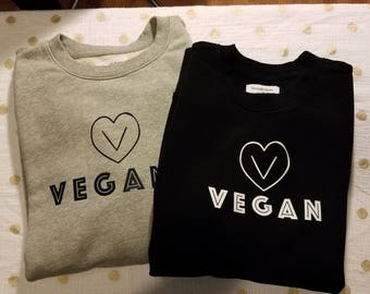 Vegana · Vegan Heart Crew Sweatshirt ·