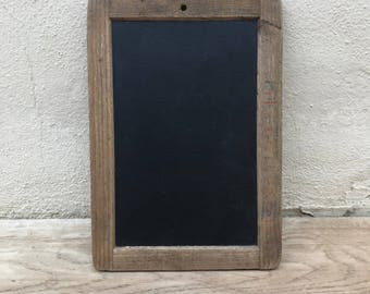 Vintage Childs blackboard,slate chalk board old school french wood 17021811