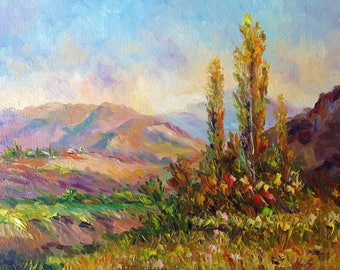 The Valley-Oil Painting-Original Art
