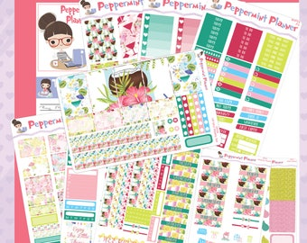 H planner Summer Drinks Weekly Starter Set or Choose the Sheets you like #04
