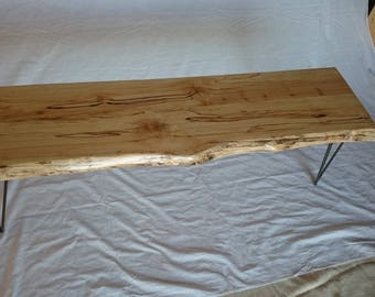 Splated Beech Bench,Handmade Bench,Live Edge,Hair Pin Legs,Irish Furniture