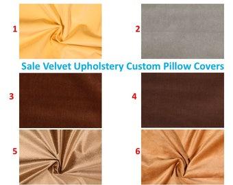 SALE Velvet Pillow covers Pillow cases Decorative Pillows Tan Velvet  pillow Brown velvet pillow 16X16, 14x16, 14x14, 12x16, 12x12, 10x10